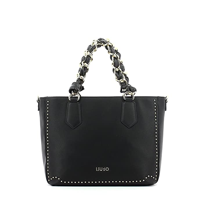 81a5c45ba5 BORSA DONNA LIU-JO SHOPPING TOTE BAG MOD LOVELY U CON TRACOLLA COL. NERO  BS18LJ14: Amazon.it: Abbigliamento