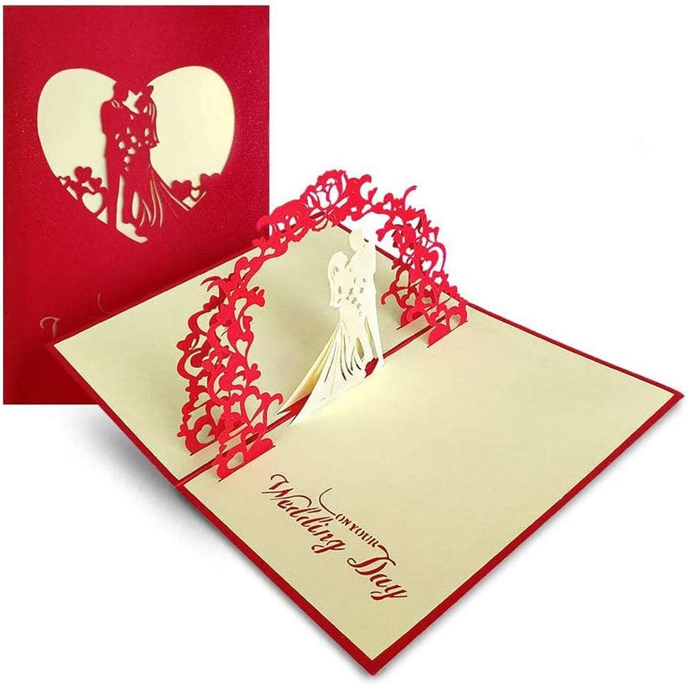 Tarjeta de Felicitación Pop Up 3D, Tarjeta de Felicitación de Boda e Invitación, regalo de aniversario, tarjeta de cumpleaños, tarjeta de romance, regalo para el día de San Valentín