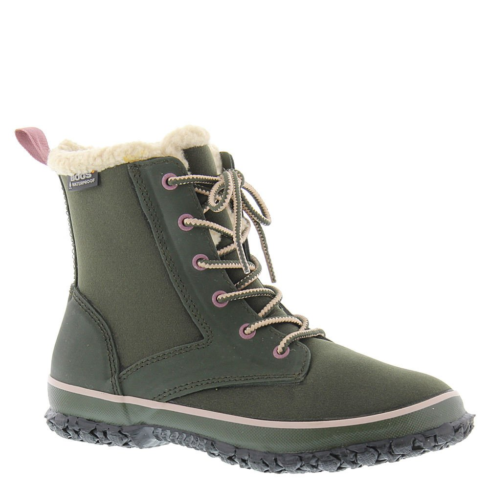 Bogs Womens Skylar Lace Closed Toe Ankle Cold Weather Boots B01MZAUWGQ 7 B(M) US|Sage