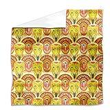 Popocatepetls Friends Flat Sheet: King Luxury Microfiber, Soft, Breathable