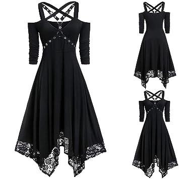 Amazon.com : charmsamx Women\'s Cross Bandage Dress Halloween ...