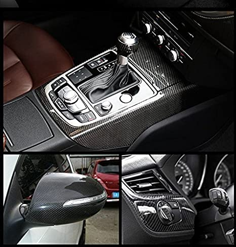 AutoSpeed 10FT x 5FT Premium 5D HIGH Gloss Black Carbon Fiber Vinyl Wrap Bubble Free Air Release 120x60