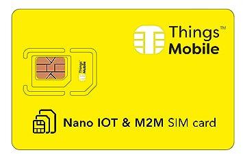 Tarjeta NANO SIM de DATOS para IOT y M2M: Amazon.es: Electrónica