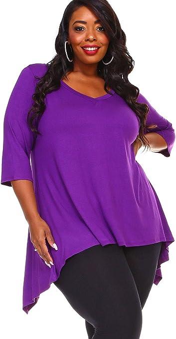 SALE Womens Purple Semi Sheer Plus Size Blouse Top 30W 32W