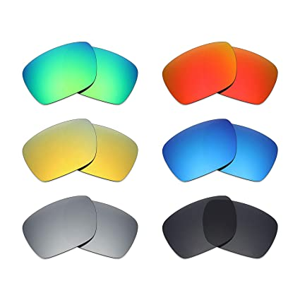 58f81242c0 Image Unavailable. Image not available for. Color  Mryok 6 Pair Polarized  Replacement Lenses for Oakley Dispatch 1 Sunglass - Stealth Black Fire