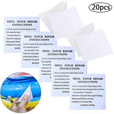 BETOY Reparación Parches, 20 Piezas Parche Reparacion Piscina Parche Inflable Transparente PVC Autoadhesivos Kit para Piscinas Inflables Camas de Agua Juguetes, 7 x 7 cm