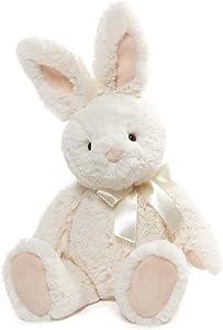 "GUND Velvet Stuffed Animal Bunny Rabbit Plush, White, 13"""
