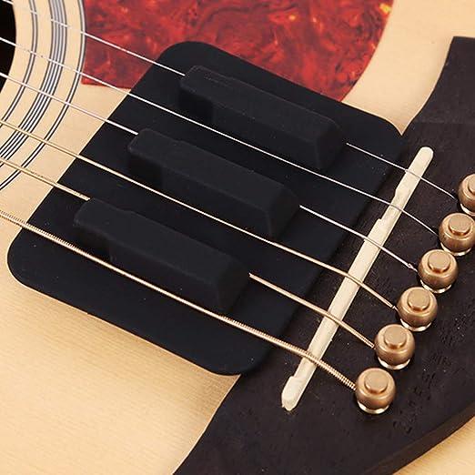 Guitarra Mute Pad Silicona Sonido Débil Guitarra Accesorio ...