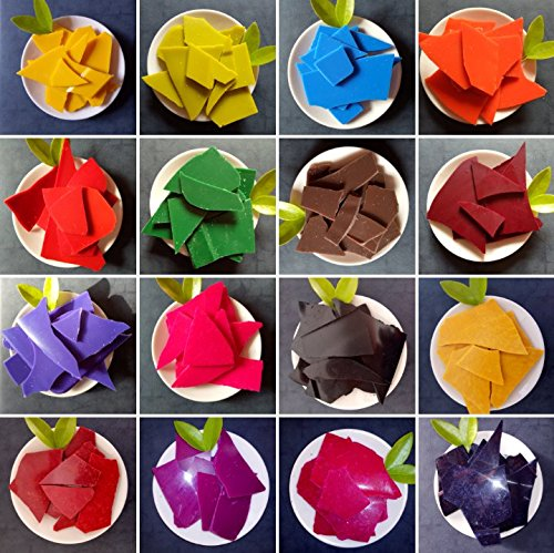 Dye Chips for Making Candles - 26 Dye Colors - A Great Choice of Colors - 0.15 Ounce Each Color - Candle DIY