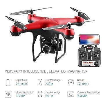 ZHTY Drone 4K 1080PHD ESC Giratorio WiFi FPV Anti-Shake Gimbal ...