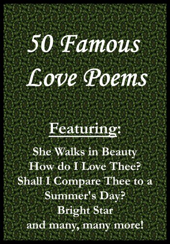 50 famous love poems kindle edition by lord byron william