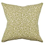 Vesper Lane AN02GRZ20I Animal Print Throw Pillow, 20 Inch, Green/Tan/Cream