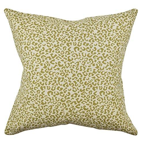 Vesper Lane AN02GRZ20I Animal Print Throw Pillow, 20 Inch, Green/Tan/Cream by Vesper Lane