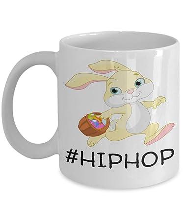 White Ceramic Funny Sayings HipHop Kid Mug Cup For Children Bpa Free Chocolate Cookies Jar
