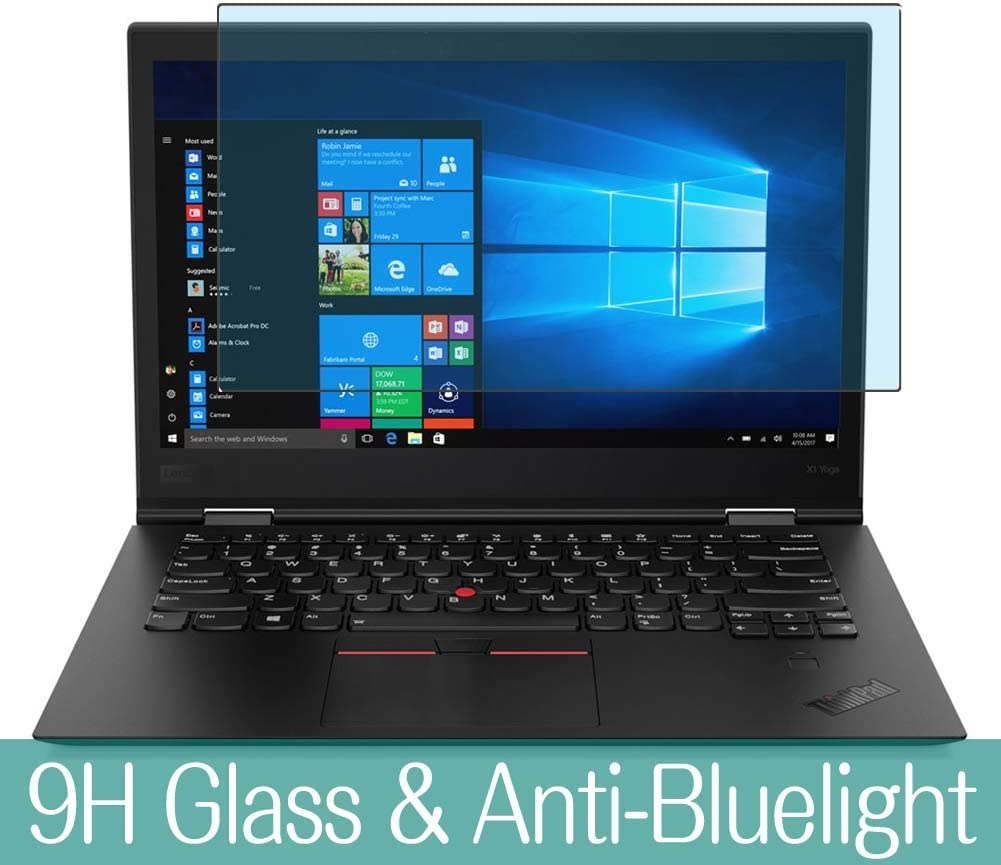 Synvy Anti Blue Light Tempered Glass Screen Protector Compatible with Lenovo X1 Yoga Gen 3 14