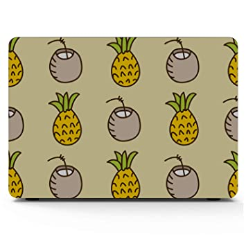 MacBook Air Case 13 Summer Retro Sweet Fruit Pineapple Plastic Hard Shell Compatible Mac Air 11 Pro 13 15 Laptop Protective Case Protection for MacBook 2016-2019 Version