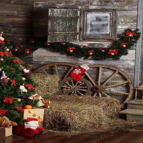 GladsBuy Lovely Stockings 10' x 10' Digital Printed Photography Backdrop Christmas Theme Background -