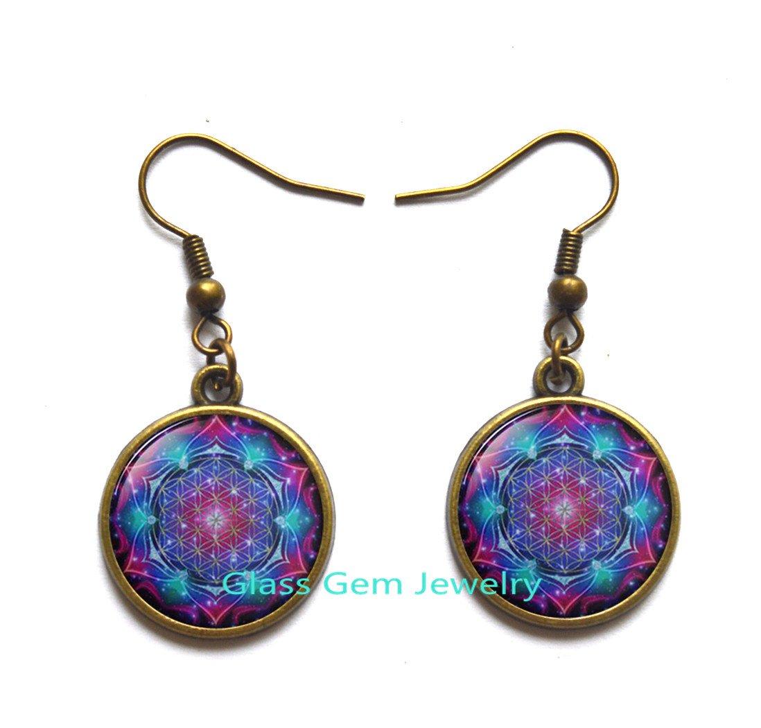 Fibonacci Spiral Locket Necklace Shell Swirls Sacred Geometry Locket Pendant Golden Ratio Jewelry Fractal Charm Accessories Gift for Her,Q0296