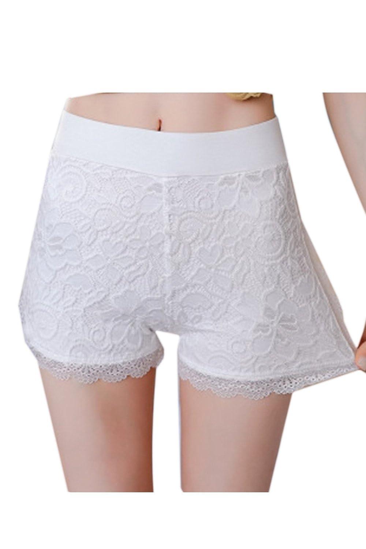 Le Donne Boyshort Pantaloncini Corti - Breve Leggings Lace ITzin18040414-Black-F