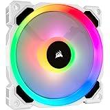 Corsair LL120 RGB, 120 mm Dual Light Loop RGB LED, PWM, High Airflow Fan - White (Single Pack)