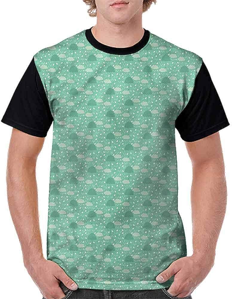 Fashion T-Shirt,Wet Weather in Green Fashion Personality Customization