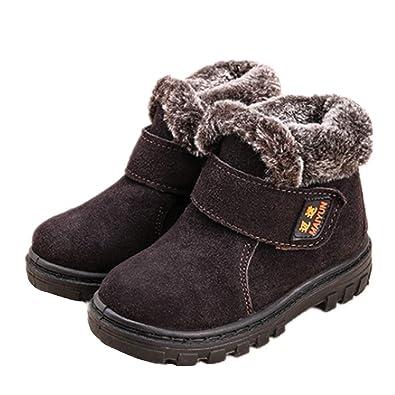 bfba65c185ad5 Martin Bottes de Neige Fourruée Enfants pour Hiver Chaude Fille Garçon  Unisexe Chaussure de Hiver Bottines