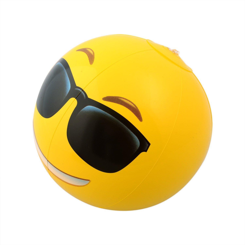 Kangaroo Emoji Universe: 12'' Emoji Inflatable Beach Balls, 12-Pack by Kangaroo (Image #5)