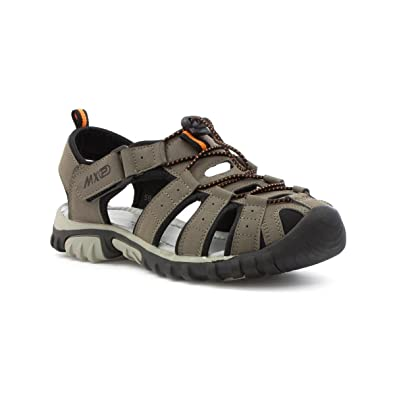 8a7b2d447898 Mercury Mens Closed Toe Strappy Sandal in Grey  Amazon.co.uk  Shoes   Bags