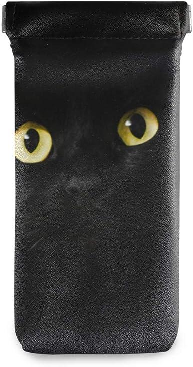 Gafas Bolsa Gafas de sol Estuche Titular Anteojos Bolsa Portátil Escuela Negro Noche Animal Gato Multiuso: Amazon.es: Ropa y accesorios