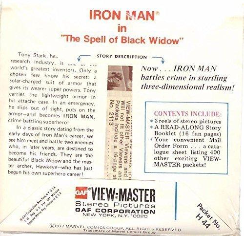 Iron Man 3d View-Master 3 Reel Packet