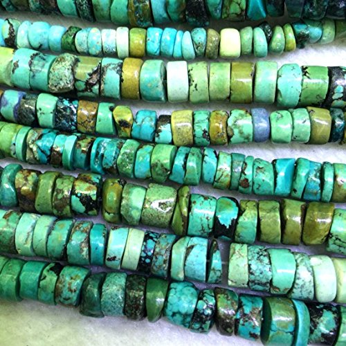 Natural Real Genuine Turquoise Rondelle Loose Beads Gemstone Beads (4*6mm)