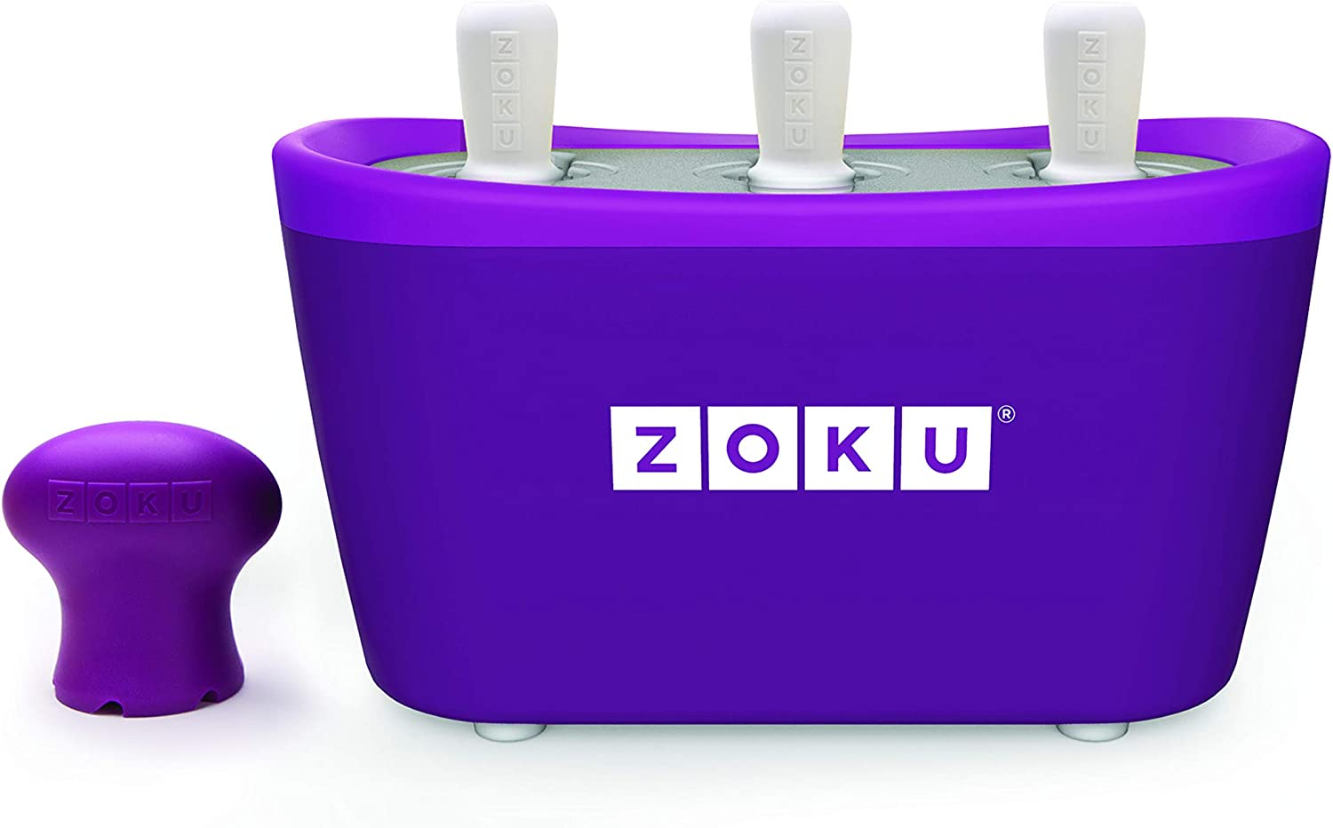3 Quick Pop Maker para hielo Zoku color morado