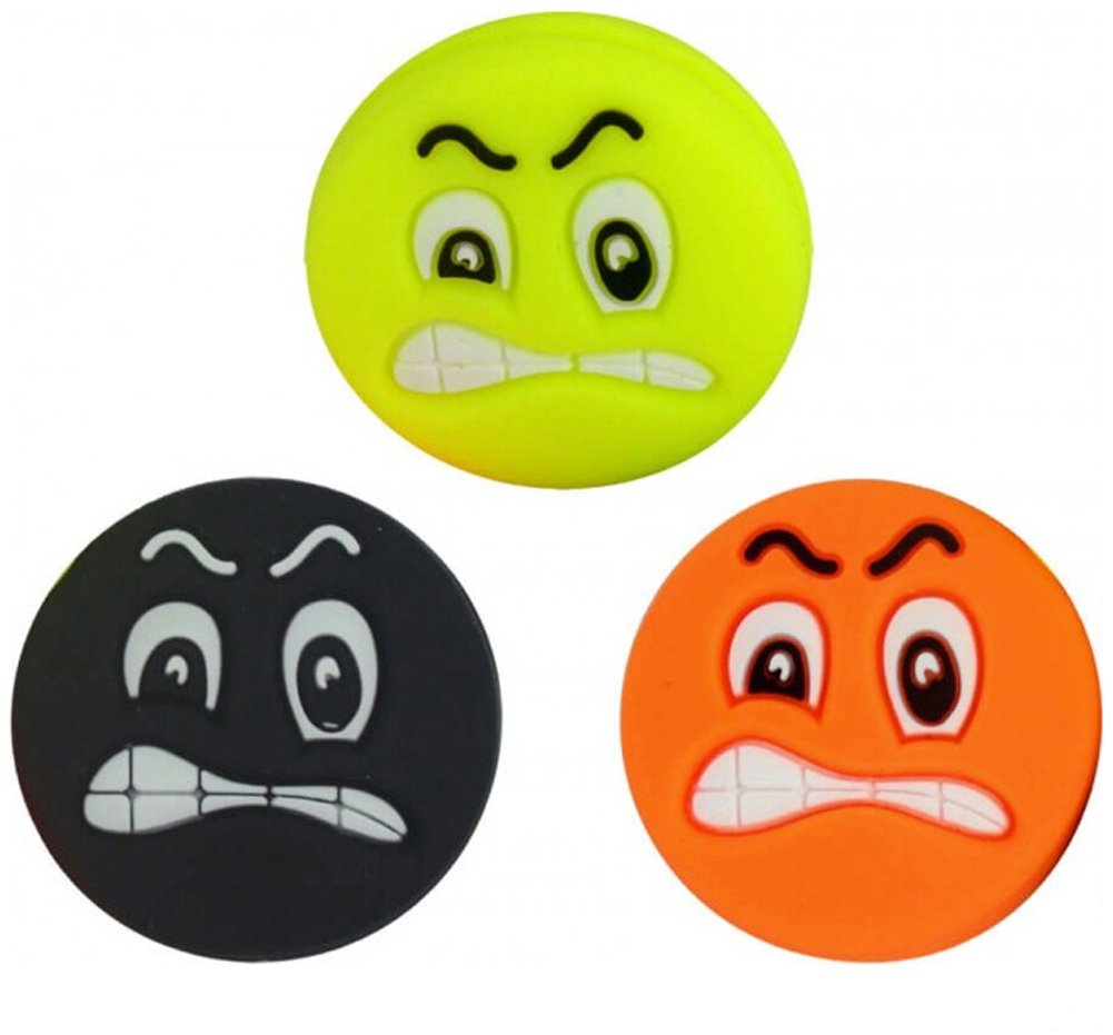 3 Tennis Vibration Dampener Smiley Emoji Angry Face Pro H098kx3a
