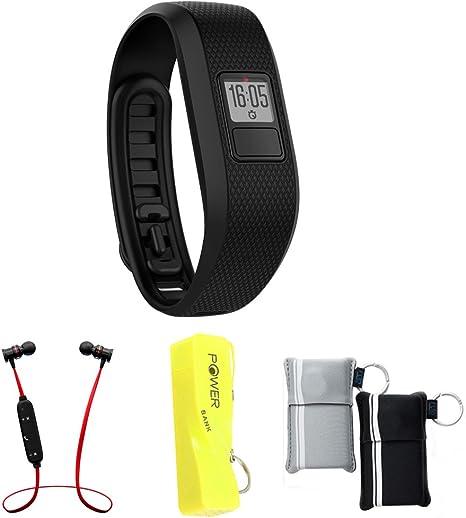 Garmin vivofit 3 Activity Tracker Black W//Additional White Accessory Band Regular fit