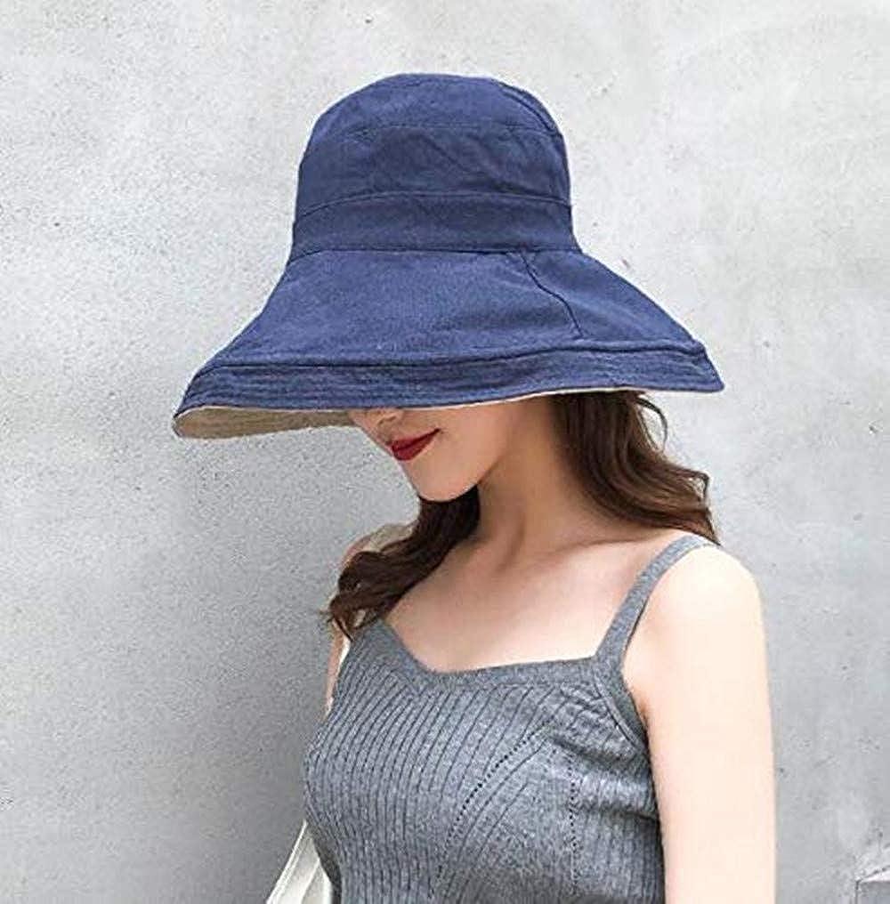 LIUHUAF Women Bucket Hat Reversible UV Sun Protection Wide Brim Summer Beach Hat Packable