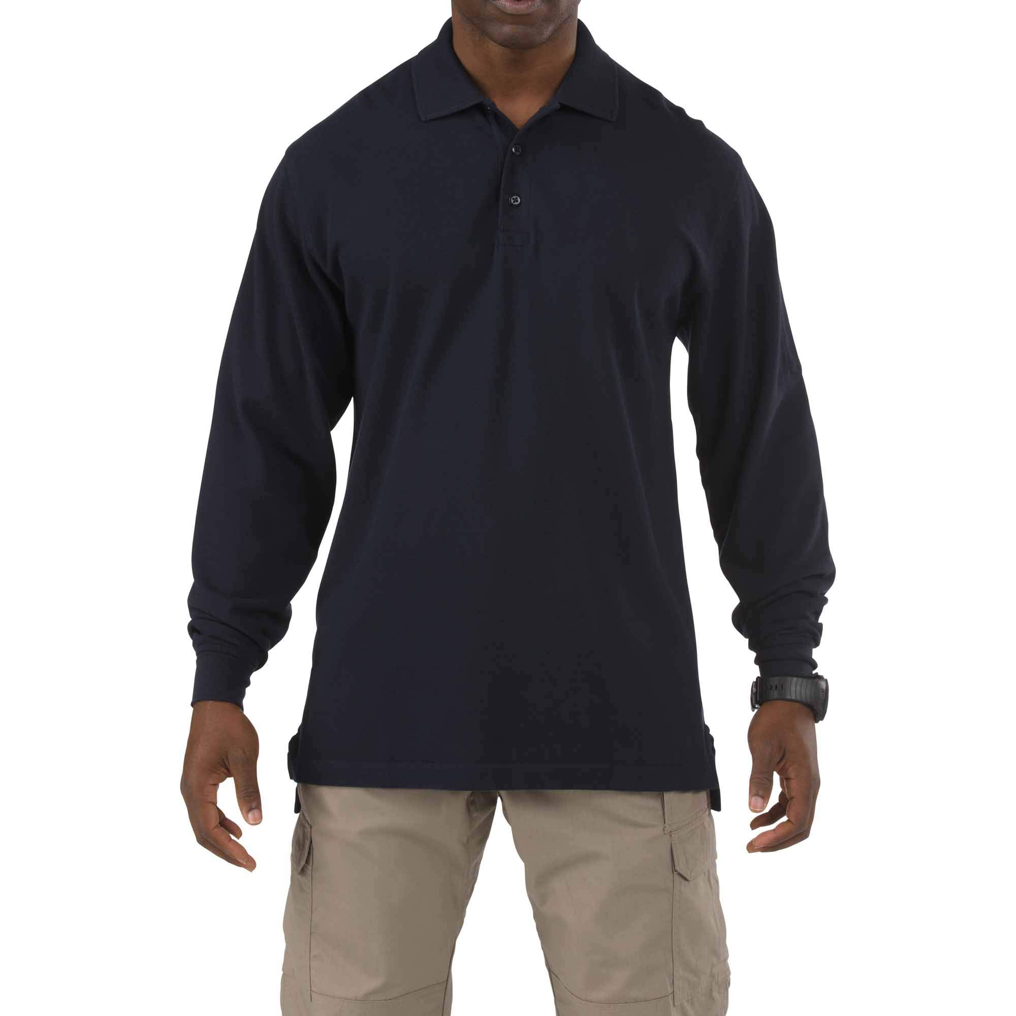 5.11 Tactical #42056T Long Sleeve Tall Professional Polo Shirt (Dark Navy, Large) by 5.11