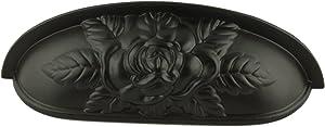 Old Rose Pattern Cup Pull | Oil Rubbed Bronze | Bin Pull for Antique Cabinet Doors, Dresser Drawers, Old Desk Furniture Hardware | DL-P3289-096OB (10)