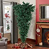 Aytai 7ft Upside Down Artificial Christmas Tree with Metal Stand, Green PVC Xmas Tree for Holiday Christmas Decoration