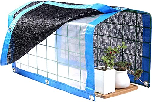 WINGOFFLY Foldable Plant Canopy with Shade Cloth and Rainproof Cover 75 Sunblock Balcony Sun Shade Net for Succulents Flowers, 23.6 x11.8 x11.8