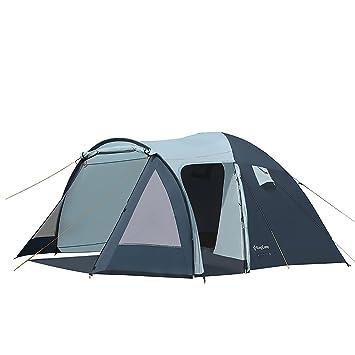 KingCamp Fin de Semana 3 Personas Tienda para Camping Resistente Viento Ignífuga Resistente al Agua 3000mm