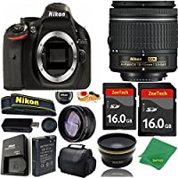 Great Value Bundle for D5200 DSLR – 18-55mm AF-P + 2PCS 16GB Memory + Wide Angle + Telephoto Lens + Case