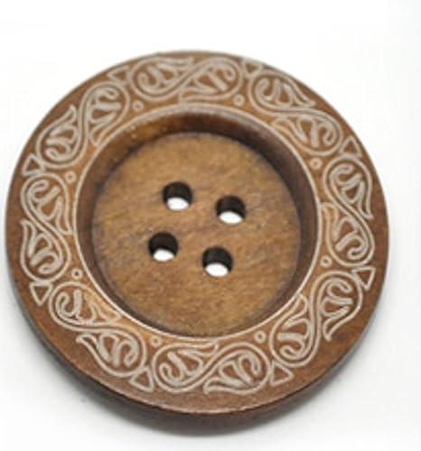 1 x botón de madera diseño de no es tóxica. 6 cm de diámetro ...