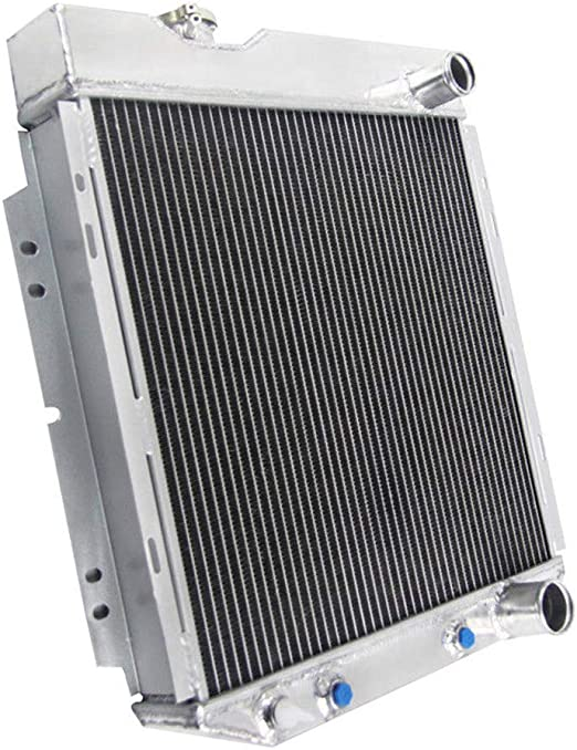 OzCoolingParts 4 Row Core Full Aluminum Radiator V8 AT//MT 14 Fan w//Shroud Kit for 1963-1966 64 65 Ford Mustang Falcon Ranchero//Mercury Comet