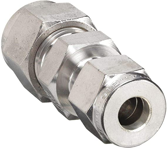 Reducing Union 1//4 Tube OD x 1//8 Tube OD Parker A-Lok 4RU2-316 316 Stainless Steel Compression Tube Fitting