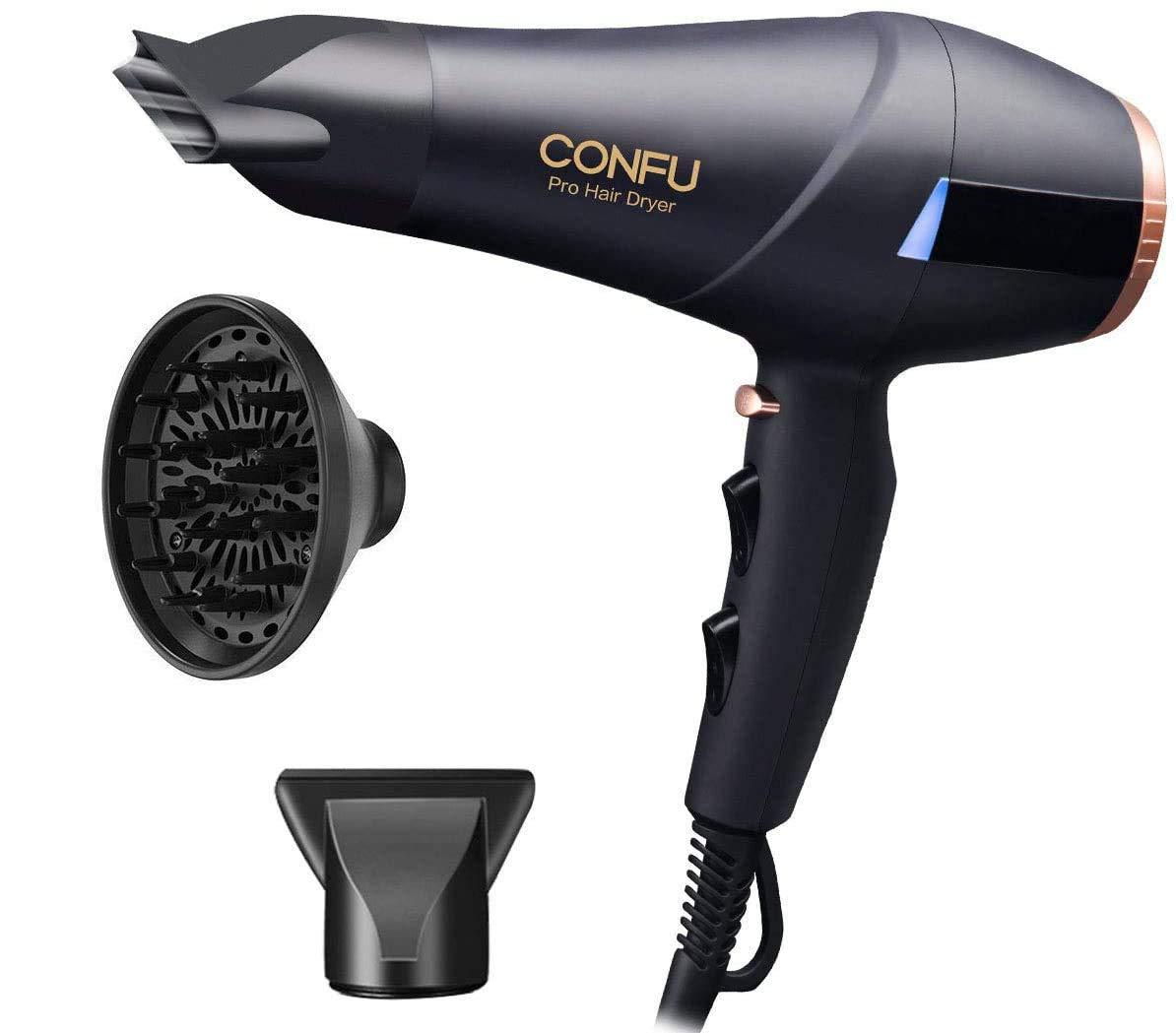 secador de soplado con 2 velocidades y 3 ajustes Secador de pelo profesional difusor secador para cabello rizado 2300 W AC-Motor i/ónico secador de pelo con concentrador de flujo de aire