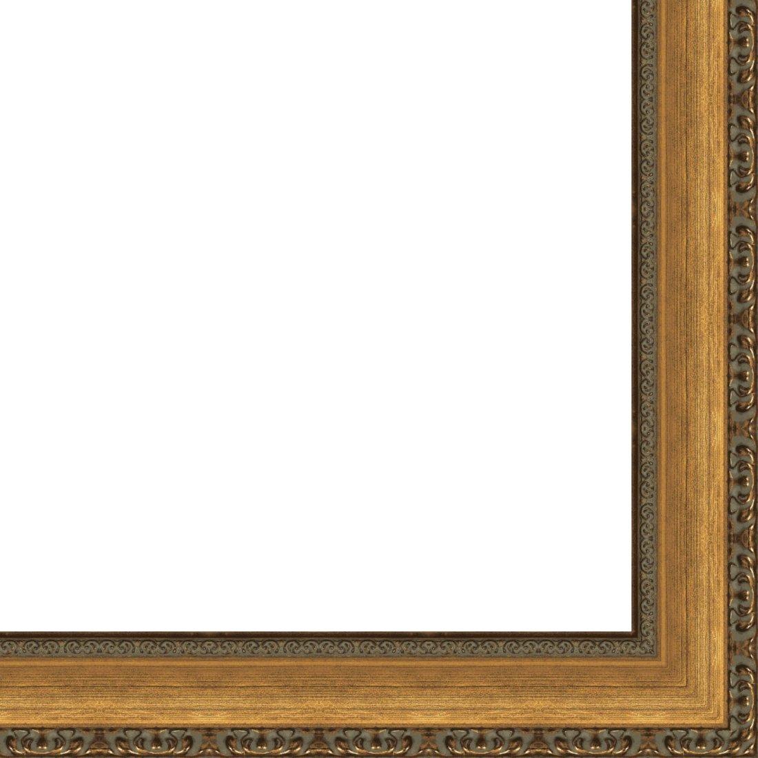 Picture Frame Moulding (Wood) 18ft bundle - Traditional Antique Gold Finish - 2.75'' width - 7/16'' rabbet depth