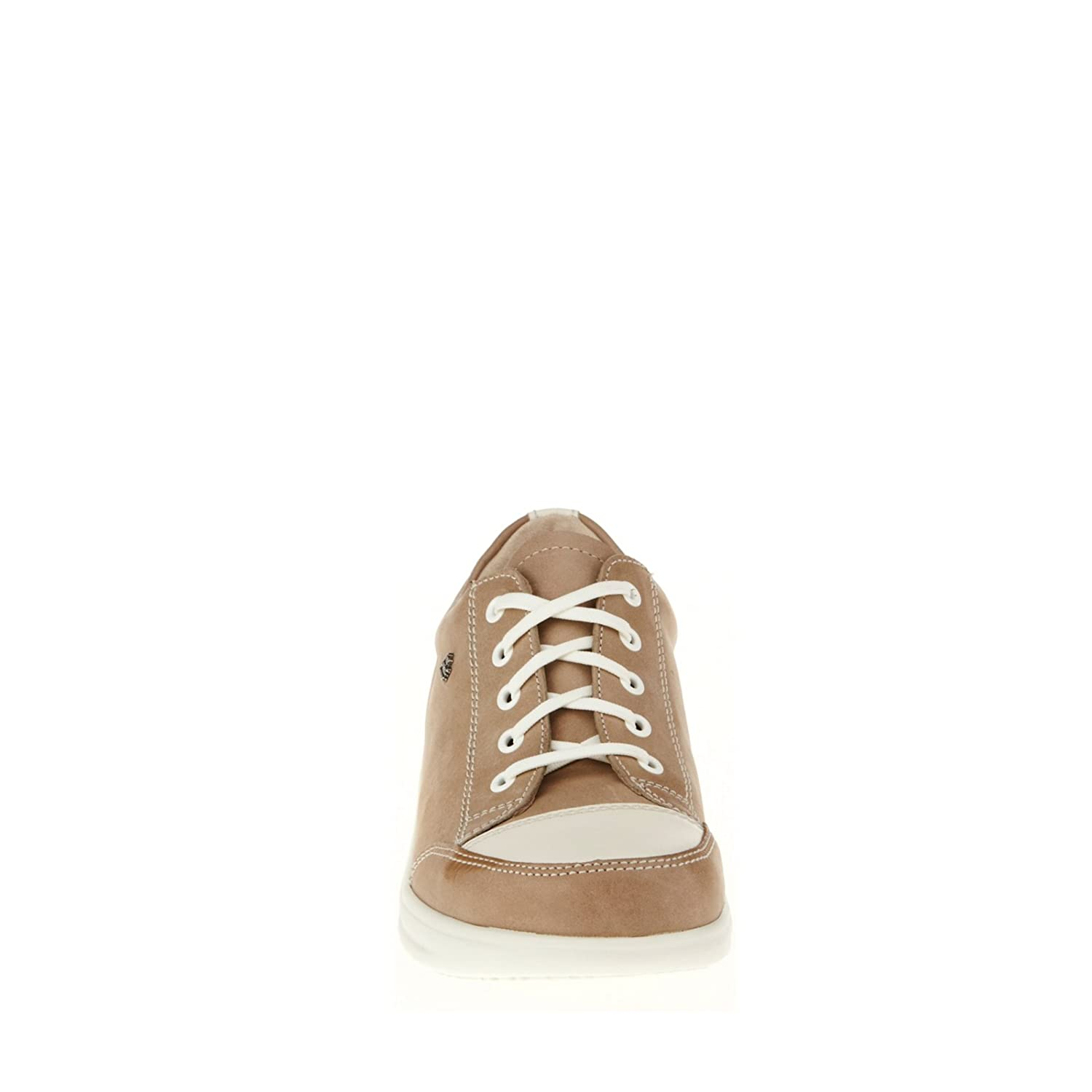 Finn Comfort Women's Ikebukuro Oxford B0099NXE4I 11.5 (UK Women's 9) Medium|Taupe, Jasmin Equipe, Okapi