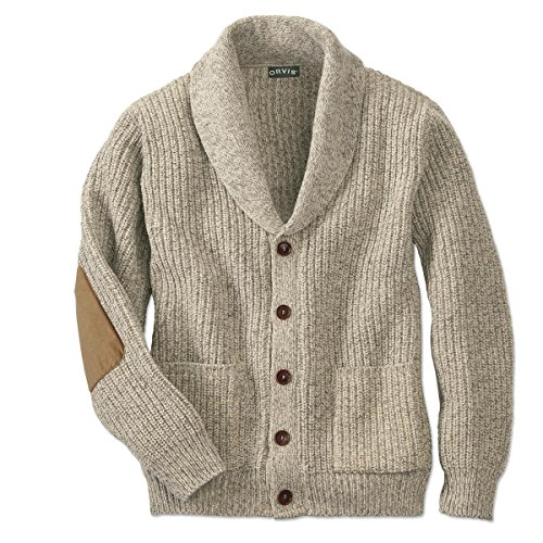 Orvis Men's Wool-Blend Shawl Cardigan Sweater, Oatmeal, Medium