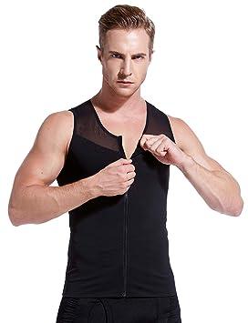 95e3c9739ded1e Amazon.com  HÖTER Mens Slimming Body Shaper Vest T-Shirt Zipper  Sports    Outdoors
