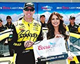 AUTOGRAPHED 2015 Carl Edwards #19 Stanley Racing COORS LIGHT POLE AWARD (Indianapolis) 8X10 Signed Picture NASCAR Glossy Photo with COA